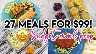 💵 27 HEALTHY MEALS FOR $99! 🤩 BUDGET MEAL PREP W/ FRUGAL FIT MOM AND MARRIAGE & MOTHERHOOD 🥩 KETO