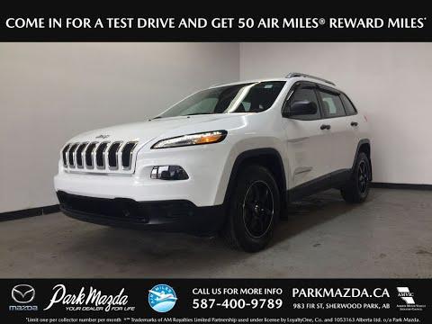 WHITE 2016 Jeep Cherokee  Review Sherwood Park Alberta - Park Mazda