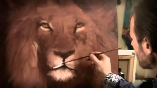 Игорь Сахаров пишет Картина маслом изображение Льва