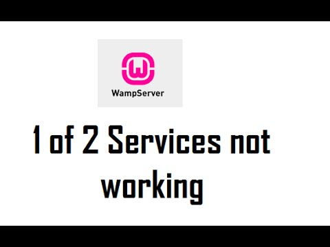 1 of 2 services not running WAMP