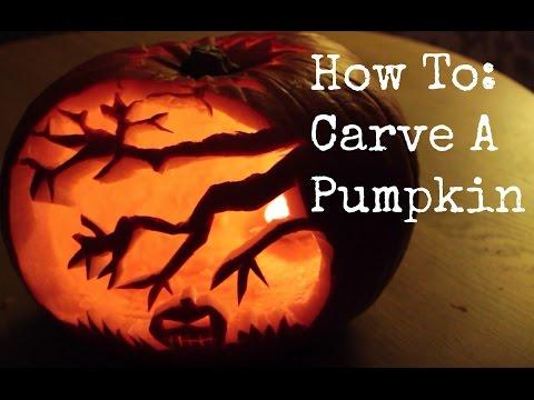 How To Carve A Halloween Pumpkin / Jack O'Lantern | ThoseRosieDays