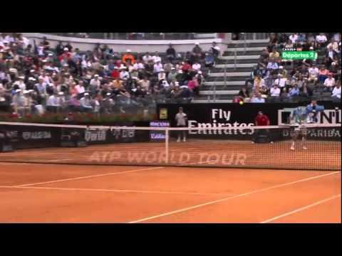 2R M1000 ROMA Carlos Berlocq vs Roger Federer SET 2/2
