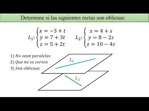 Determinar si dos rectas son oblicuas [Parte 1/2]