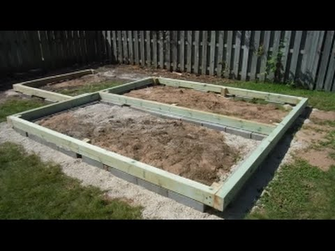 Greenhouse Shed Build Part 3 Foundation - YouTube