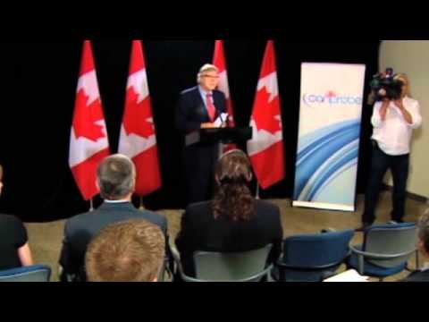 Doctor and medical student interrupt Minister Joe Oliver at press conference