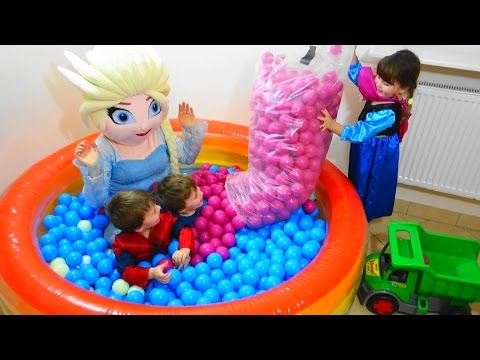 Thumbnail: Baby toys balls with Elsa and Kids Children playing with balls video for kids