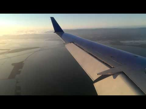 Bombardier CRJ200 landing at San Francisco international airport