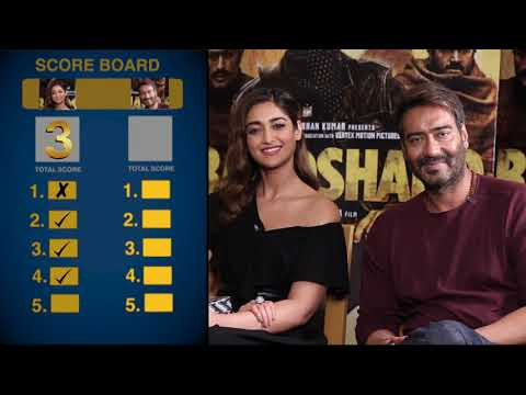 Find Out How Well Do Ajay Devgn & Ileana D鈥機ruz Know Each In This EXCITING Quiz | Baadshaho