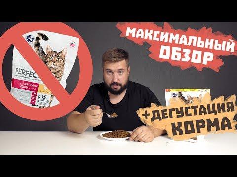 Perfect Fit сухой корм для кошек   Видео обзор корма Перфект Фит