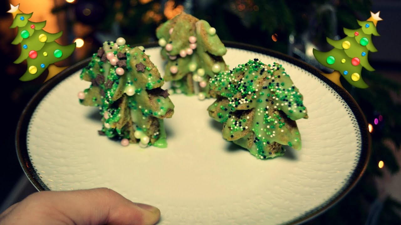 Easy 3d Christmas Tree Cookies Tutorial
