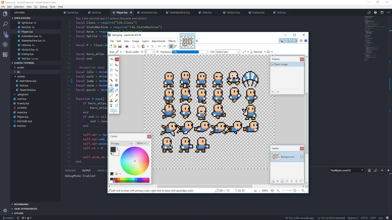 Love2D Tutorial Ep37: Our player Jumps and more Bounding Box fun