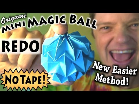 Mini Magic Ball -- NO TAPE!!! (REDO)