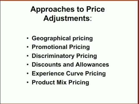 Approaches to Price Adjustment#Effects of Price Changes#DDDKSS#Marketing Management#Pricing & Market