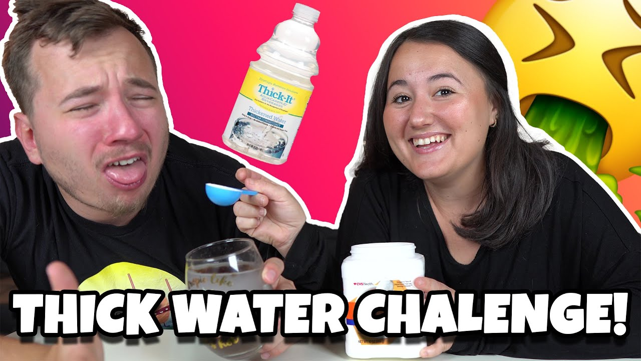 WE TRIED THICK WATER!! | WATER THICKENING CHALLENGE GONE WRONG!