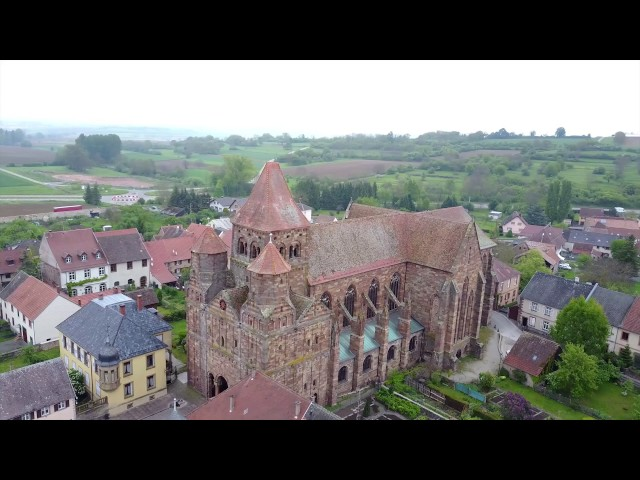L'Abbaye Saint-Étienne de Marmoutier France - Drone Video