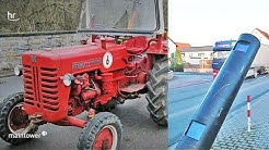 Amokfahrt mit Traktor - 6 Blitzer zerstört