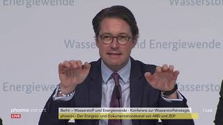 PK zu Wasserstoff und Energiewende mit Altmaier, Scheuer und Müller am 05.11.19