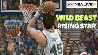 NBA Live 14 (PS4): Rising Star - Wild Beast (Center) EP 2 (1st NBA Game!)