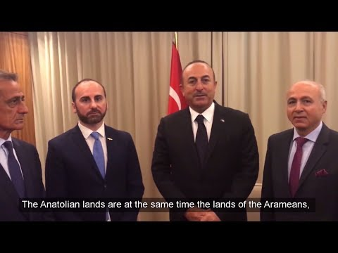 Mevlut Cavusoglu, Minister of Foreign Affairs Turkey, Message to Aramean (Syriac) people