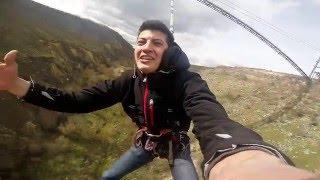 Роупджамп с вантового моста в Резине с высоты 100 м