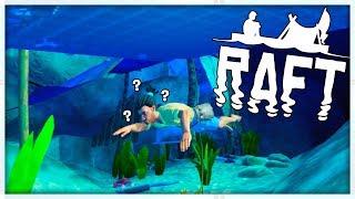 WHAT SECRET IS BENEATH THE RAFT? - MINECRAFT MEETS ARK - RAFT SURVIVAL