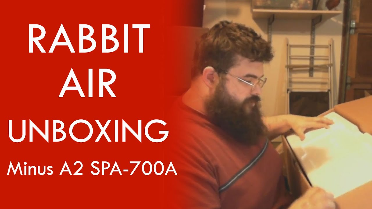 rabbit air minus a2 spa700a unboxing