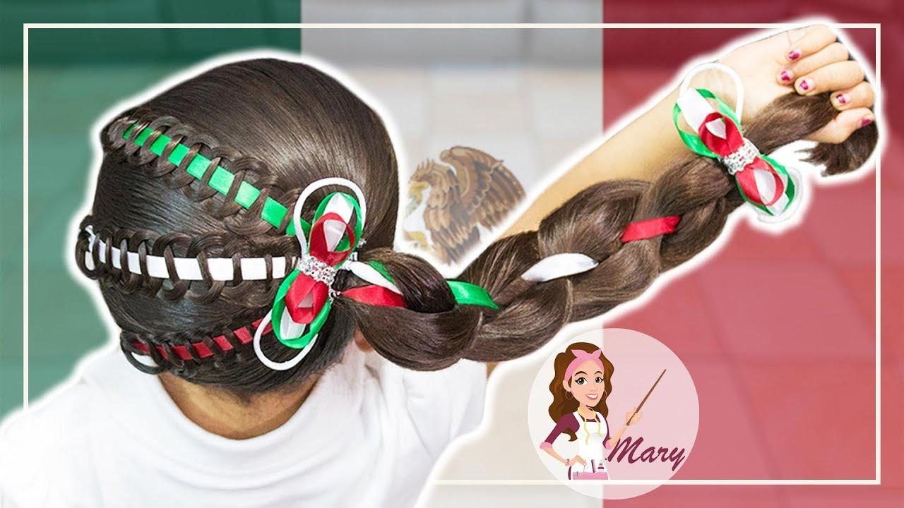 Peinados Mexicanos Para Las Fiestas Patrias Youtube