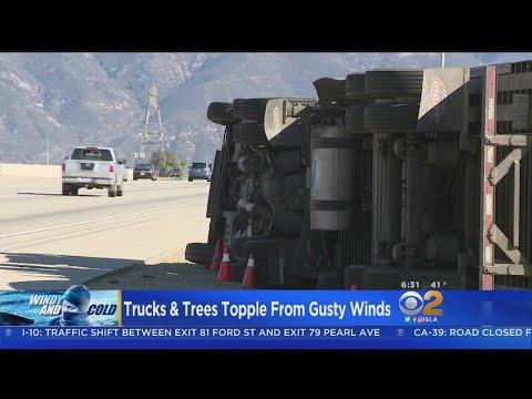 Freezing Temperatures, Strong Winds Rake Southern California