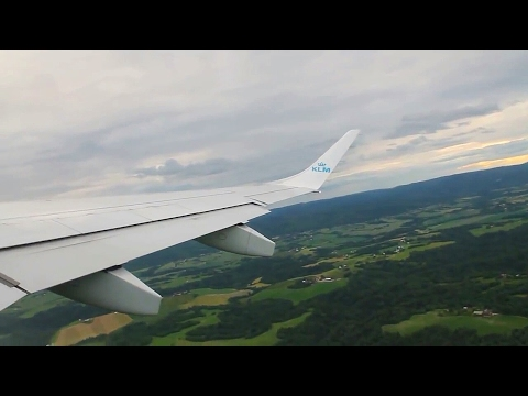 KLM KL1150 Embraer 190 Oslo-Amsterdam Safety, Takeoff & Heavy Crosswind Landing at Polderbaan
