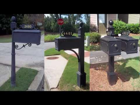New Mailboxes Alpharetta GA | Custom Metal Mailbox Installation