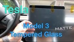 Tesla Model 3 Tempered Glass Matte Finish