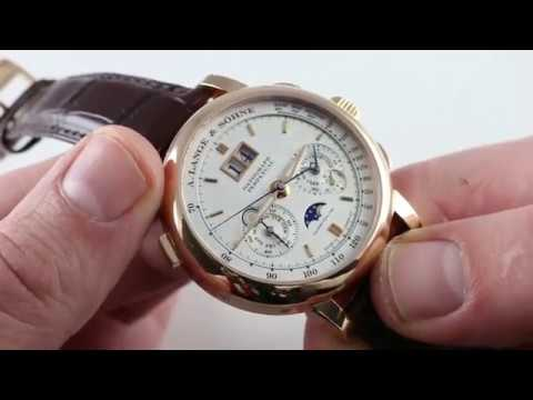 Pre-Owned A. Lange \u0026 Sohne Saxonia Datograph Perpetual Calendar 410032E Luxury Watch Review