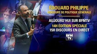 Suivez en direct le discours de politique générale d'Edouard Philippe