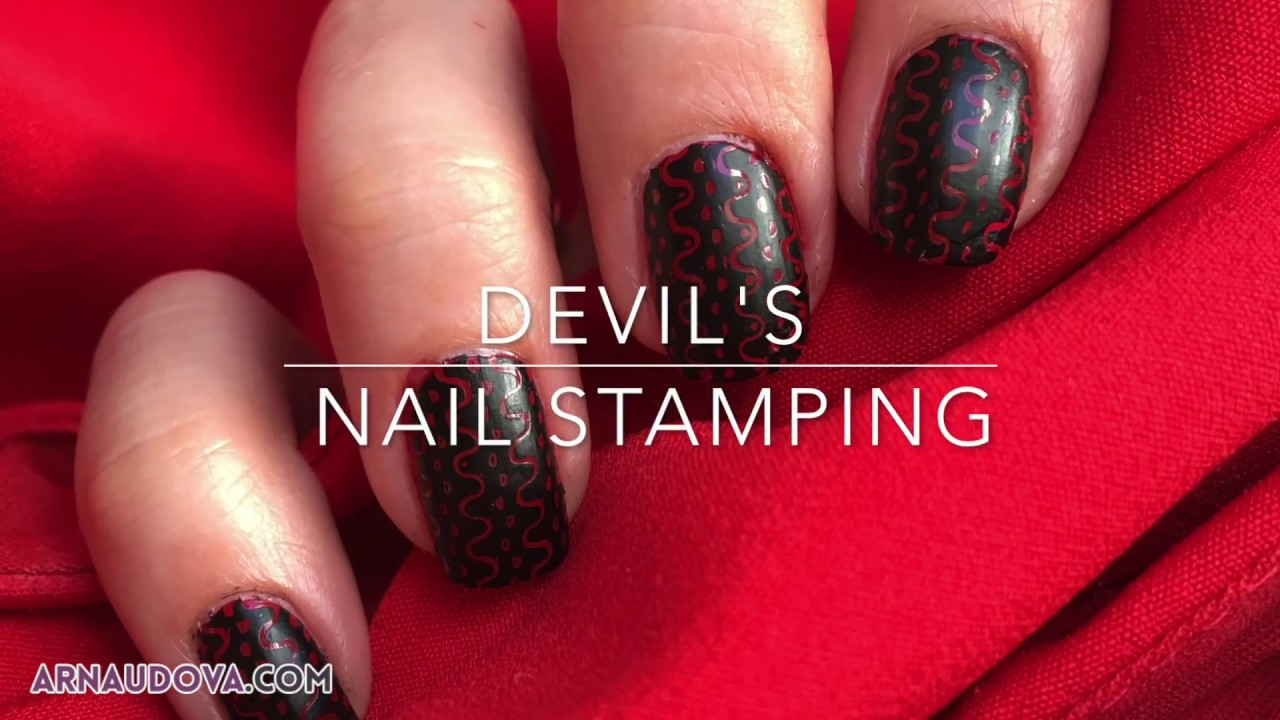 Fabulous Nageldesign Schwarz Rot Ideas Of Stamping #8 - Teufels - Rot-schwarz -