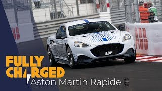 Aston Martin Rapide-E hot lap at Monaco Formula E   Fully Charged