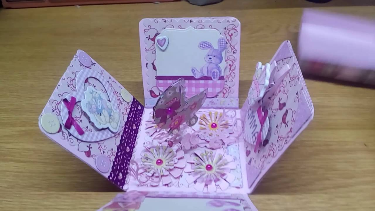 Handmade baby girl greeting card youtube handmade baby girl greeting card m4hsunfo