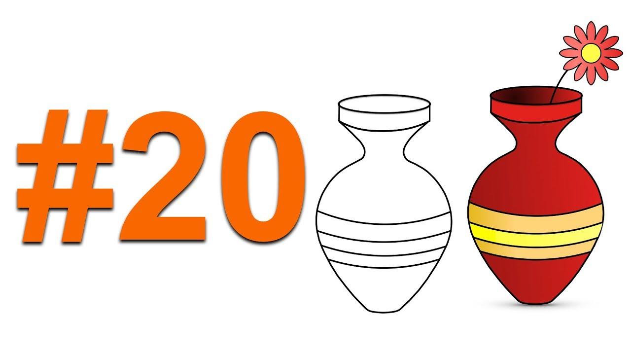 10 Adimda Vazo çiziyoruz Pratik Yöntem How To Draw A Vase