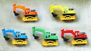 Find Parts Of Excavator Toy Assembly Video for Kids | Construction Vehicles For Kids
