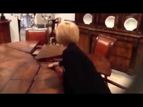 Worldbazaaroutlet - Expanding and collapsing round table demonstration