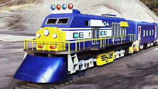 Lego police thief cartoon - Lego Train Gold rob fail - choo choo train kids videos