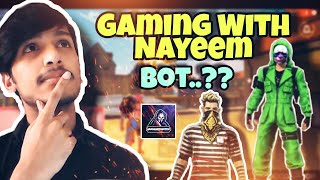 Gaming With Nayeem Is Bot.? SCSGamer React To [ Gaming With Nayeem  ] Legend PLayer In [ FREE FIRE ]