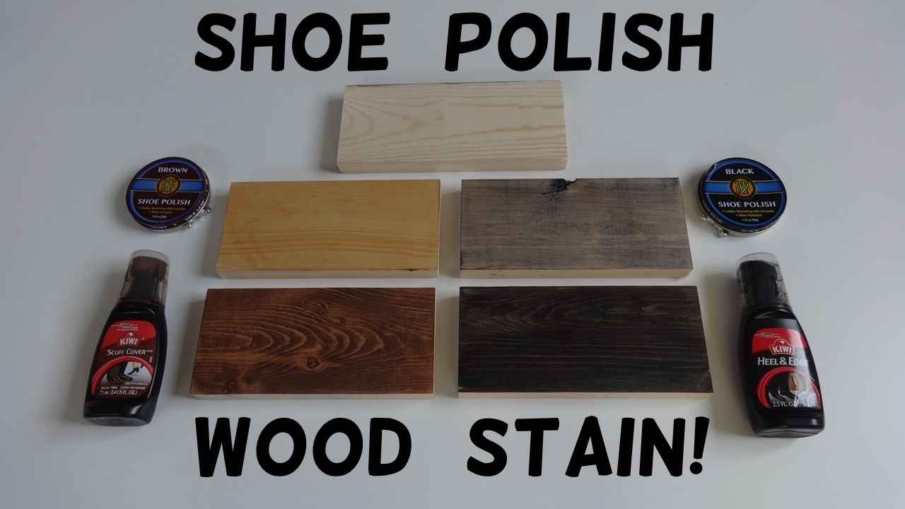 How to Stain Wood with Shoe Polish! - YouTube