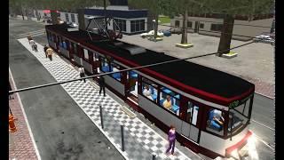 Tram Simulator Dusseldorf krótki gameplay.