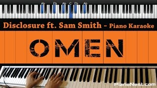 Disclosure ft. Sam Smith - Omen - Piano Karaoke / Sing Along / Cover with Lyrics Mp3
