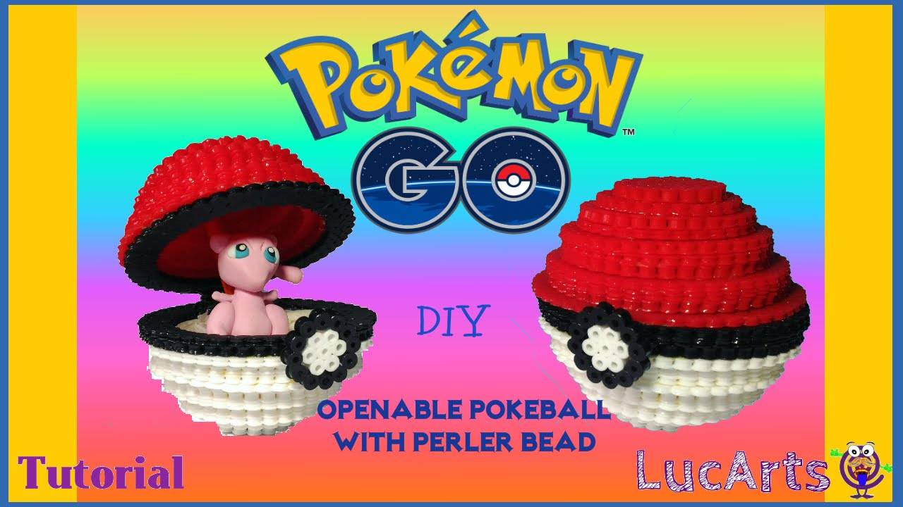 How To Make An Openable Pokeball With Perler Bead Inspired By Pokémon Go Pokeball Con Perler Bead
