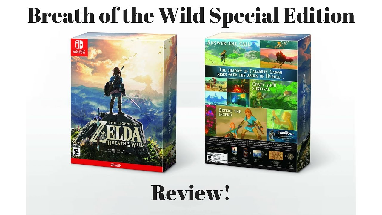 breath of the wild special edition review youtube. Black Bedroom Furniture Sets. Home Design Ideas