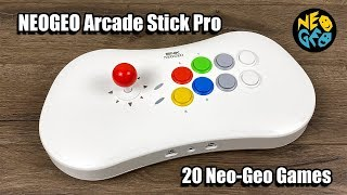 NEOGEO Arcade Stick Pro With 20 Preloaded Games - First Look,Test,Teardown