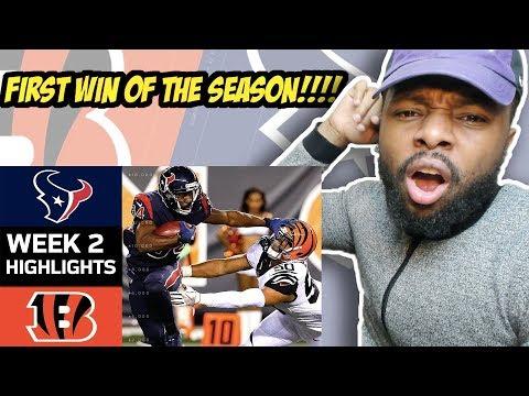 Texans vs  Bengals | NFL Week 2 Game Highlights Reaction
