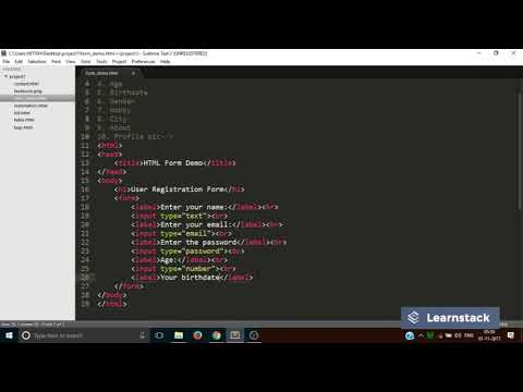 Web Design | HTML Form