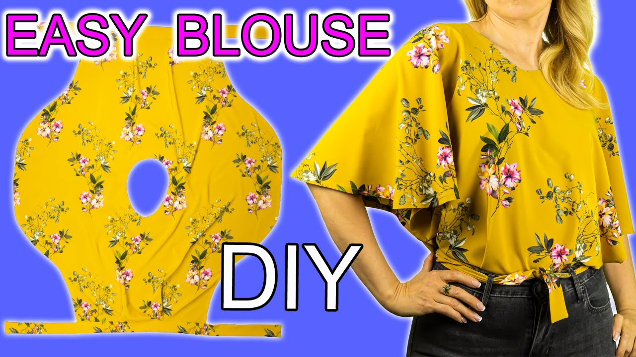 😲 Wow 🔥 This blouse is easy to sew even for beginners. 👍 Very useful sewing tips. Sewing projects.